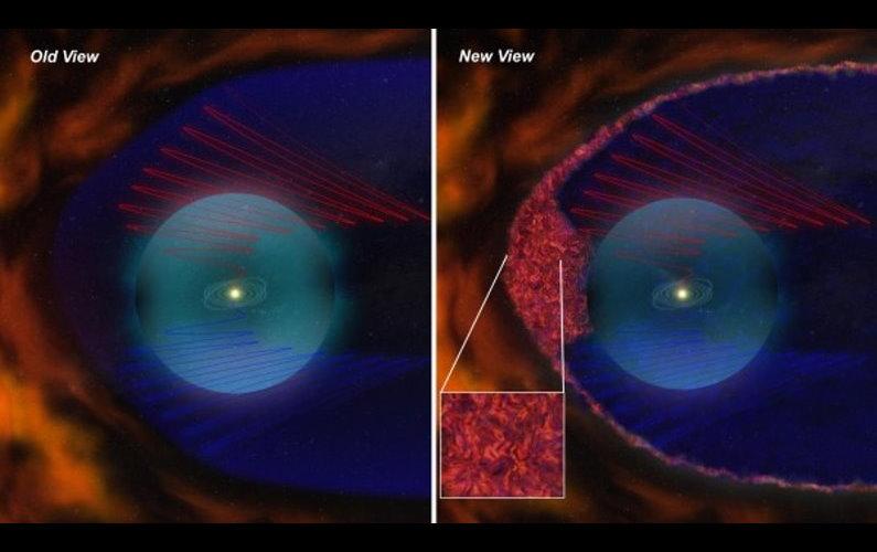 Découverte d'une zone de turbulences remplie de bulles magnétiques aux confins du système solaire.
