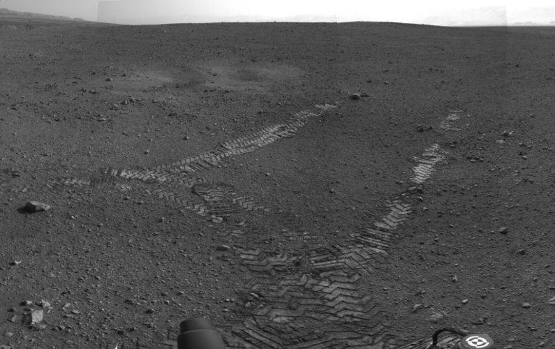 Curiosity se déplace sur Mars