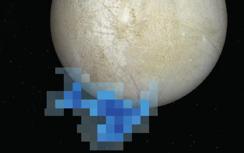 Hubble photographie des geysers géants sur Europe