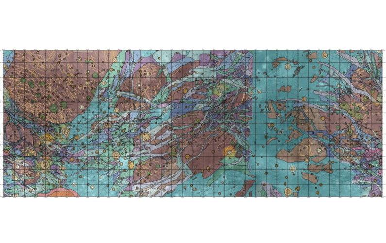 La première carte de Ganymède publiée