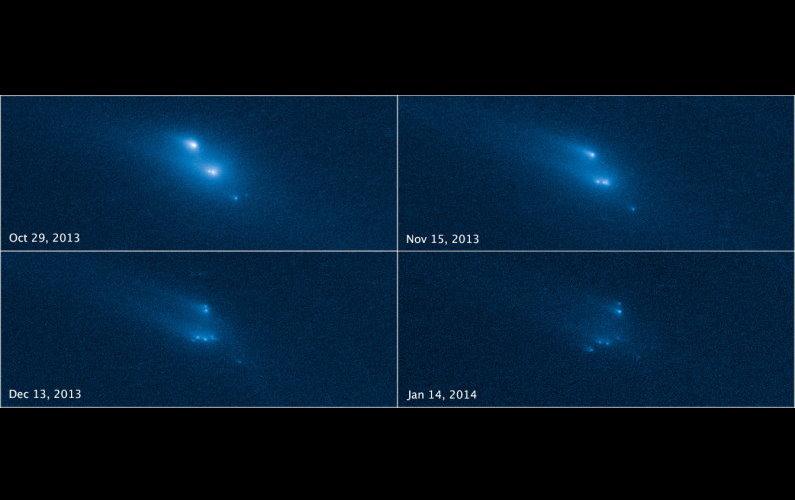 Hubble observe la désintégration d'un astéroïde