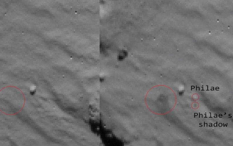 L'atterrissage de Philae vu depuis Rosetta