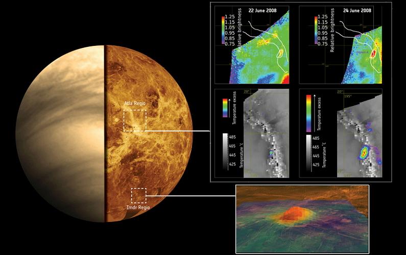 L'activité volcanique de Vénus se confirme