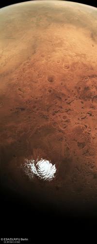 Mars Express capture le pôle sud de Mars