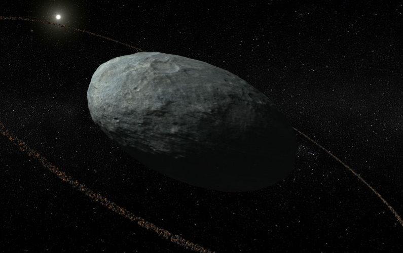 Haumea possède un anneau