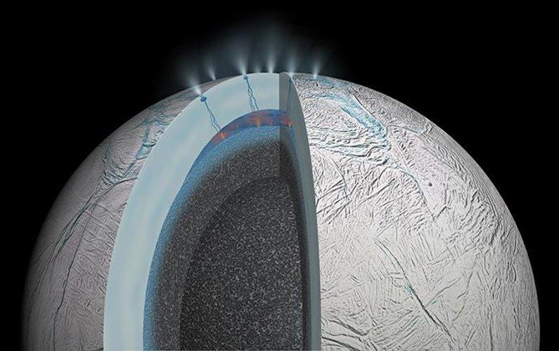 Des molécules organiques découvertes sur Encelade