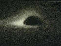 Dessin d'un trou noir de 1979