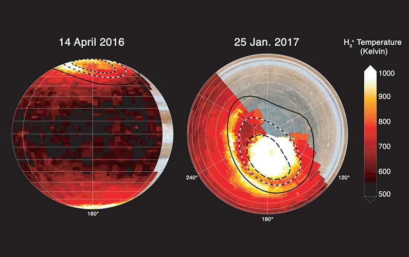 La température de l'atmosphère de Jupiter expliquée