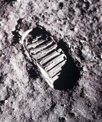 Trace de pas sur la Lune