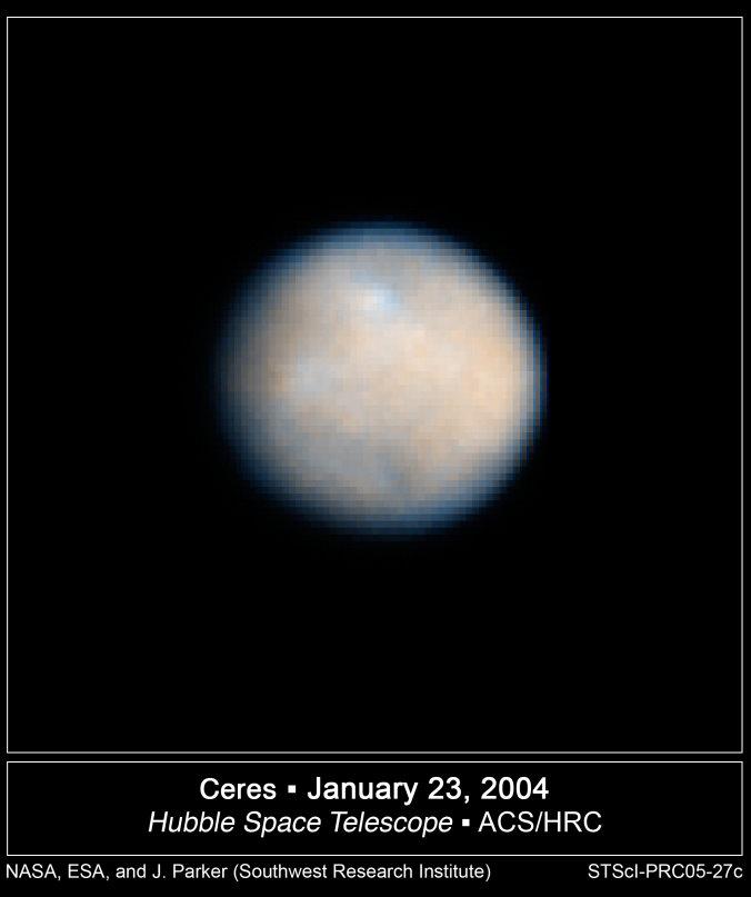 Cérès vu par le téléscope spacial Hubble