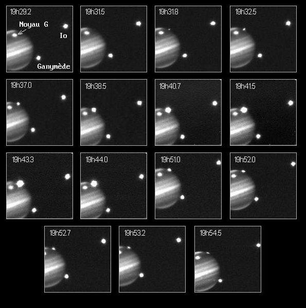 Impact du noyau H de la comète Shoemaker-Levy 9
