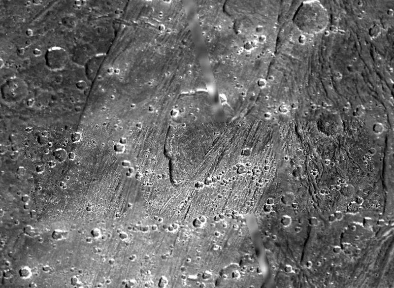 Surface de Ganymède