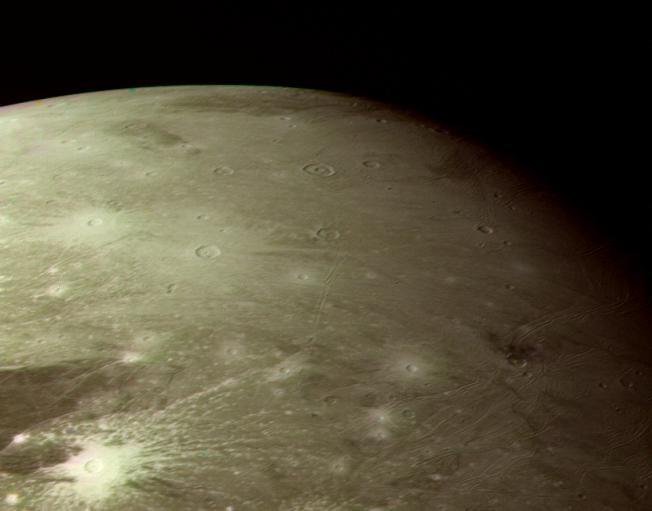 Survol de Ganymède
