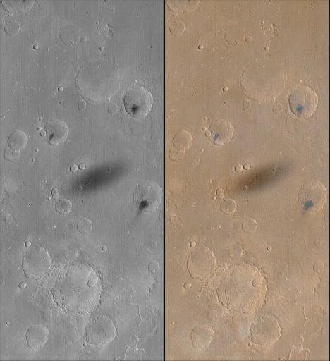 Ombre de Phobos à la surface de Mars