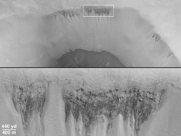 Trace d'eau à surface de Mars