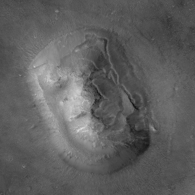 Le visage de Mars vu par Mars Global Surveyor