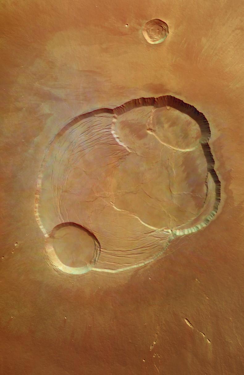 Zoom sur Olympus Mons