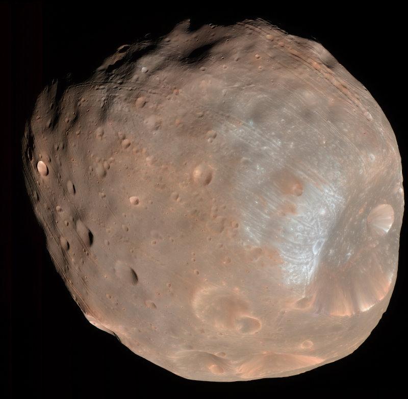 Phobos vu par Mars Reconnaissance Orbiter