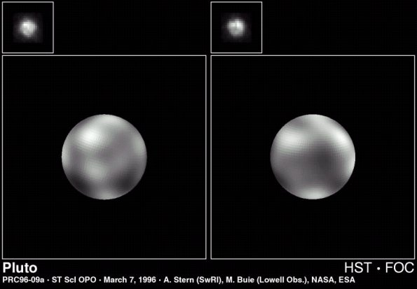 Pluton observé par Hubble