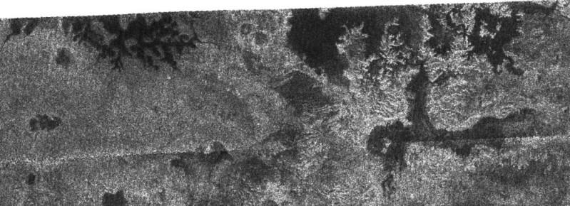 Image radar du 09/10/2006 couvrant une surface de 300 x 140 km