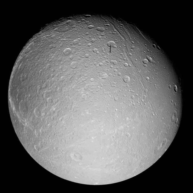 Dioné vu par Cassini