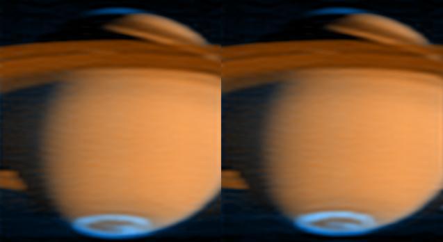 Aurore polaire sur Saturne