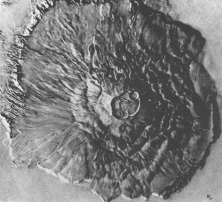 Mont Olympe vu par Mariner 9