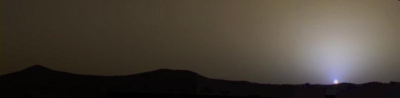 Couché de Soleil sur Mars