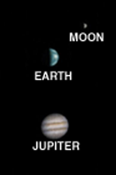 Jupiter, la Terre et la Lune vues depuis Mars
