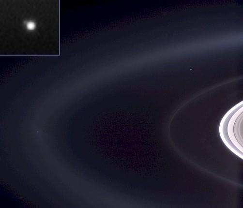 La Terre vue depuis Saturne
