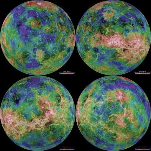 Cartographie de Vénus